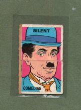Old CHARLIE CHAPLIN card, RARE comic fold-out trade card #102